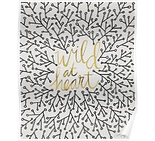 Wild at Heart – Gold & Black on White Poster