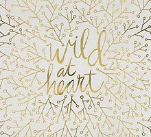Wild at Heart – Gold on White by Cat Coquillette