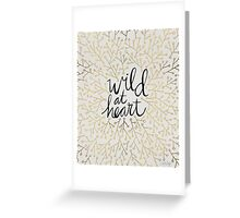 Wild at Heart – Gold Branches on White Greeting Card