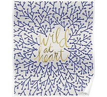 Wild at Heart – Navy & Gold Poster