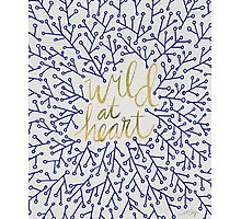 Wild at Heart – Navy & Gold Photographic Print
