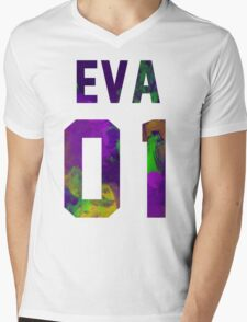 EVA-01 (Neon Genesis Evangelion) Mens V-Neck T-Shirt