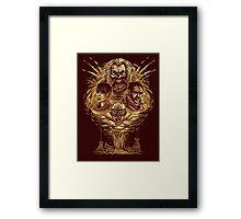 Mad Fury Framed Print