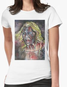 Zombie woman Womens Fitted T-Shirt