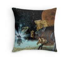 Slaying the beast Throw Pillow