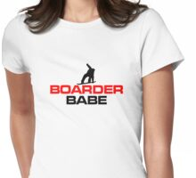 Boarder Babe Snowboard Groupie Design Womens Fitted T-Shirt