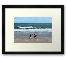 The Surfs Up Framed Print