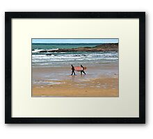 Walk To The Waves Framed Print
