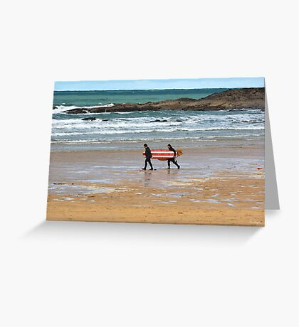 Walk To The Waves Greeting Card