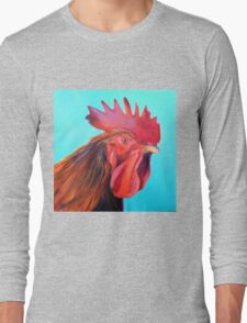 Reagan the Rooster, from original oil painting by Madeleine Kelly Long Sleeve T-Shirt