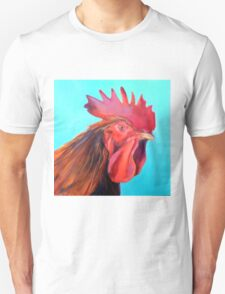Reagan the Rooster, from original oil painting by Madeleine Kelly Unisex T-Shirt