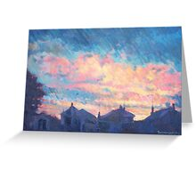 Rooftop Sunrise Greeting Card