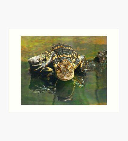 Gargoyle Gator Art Print