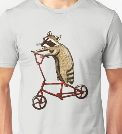 Bicycle Riding Raccoon  Unisex T-Shirt