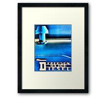 Diesel Framed Print