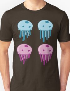 Cute cartoon blue and pink jellyfishes 2 Unisex T-Shirt