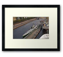 Cold War Soviet Submarine Framed Print
