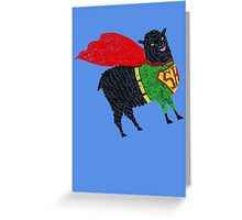 Superhero  Sheep Greeting Card