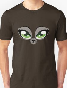 Kitten face with green eyes Unisex T-Shirt