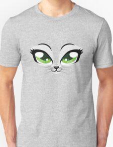 Kitten face with green eyes Unisex T-Shirt