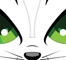 Kitten face with green eyes Sticker