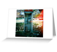 Phone and Chair Greeting Card