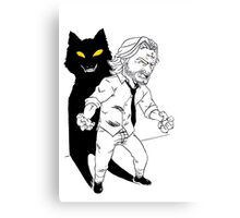 Mini Bigby wolf Canvas Print