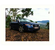 Audi A4 Convertable Art Print