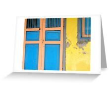 Colors on Doors & Windows, v.1 Greeting Card