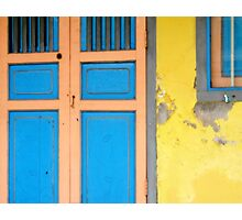 Colors on Doors & Windows, v.1 Photographic Print