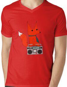 music fox Mens V-Neck T-Shirt