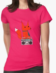 music fox Womens Fitted T-Shirt