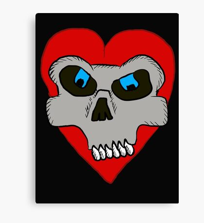 Skull Heart  Canvas Print