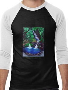 Elabana Falls Men's Baseball ¾ T-Shirt