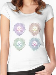 Lion face 2 Women's Fitted Scoop T-Shirt
