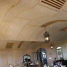 Wavy wooden ceiling by oiseau