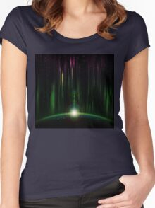 Abstract eclipse Women's Fitted Scoop T-Shirt