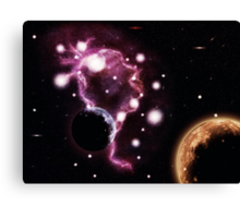 Big pink nebula 2 Canvas Print