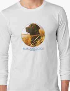 Mallard Down - Saw Grass Black Lab Long Sleeve T-Shirt