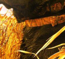 Mallard Down - Saw Grass Black Lab Sticker