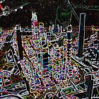 Lego City at Night by Michelle Whelan