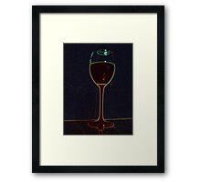 Blood in the Dark Framed Print