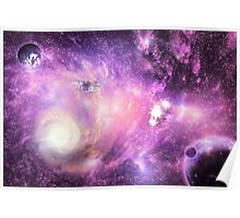 Bright space galaxy Poster
