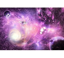 Bright space galaxy Photographic Print