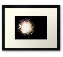 Abstract colorful exploding star Framed Print