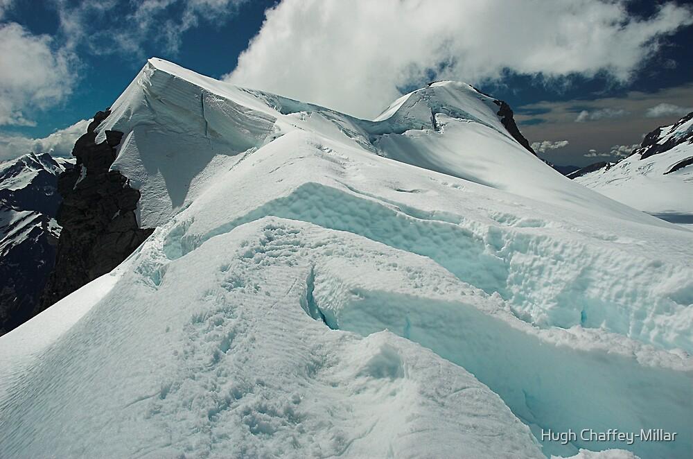 Mount French Crevasses, Mt Aspiring National Park, New Zealand by Hugh Chaffey-Millar