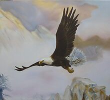 Eagle Rocky Mountain by gunnelau
