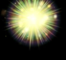 Abstract colorful exploding star 3 by AnnArtshock