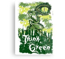 Think Green Metal Print
