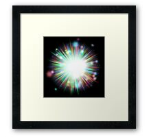 Abstract colorful exploding star 4 Framed Print